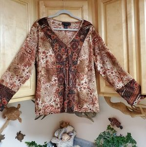 Venezia V Neck Blouse 18/20